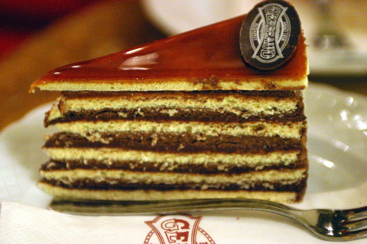Dobos Cake (gerbeaud Confectionery Budapest Hungary)