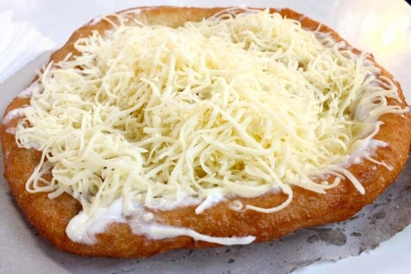 Fried Yeast Cake (langos)